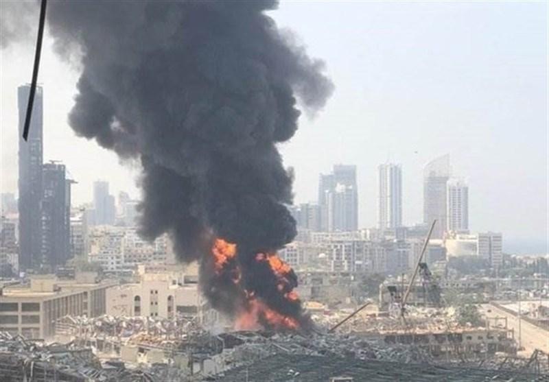 علت آتش سوزی جدید در اسکله بیروت مشخص شد
